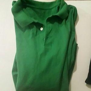 Croft & Barrow Green Short Sleeve Top Sz XL